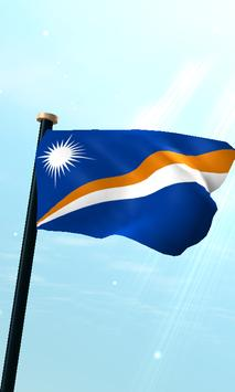 Marshall Islands Flag 3D Free poster