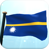 Nauru Flag 3D Free Wallpaper icon