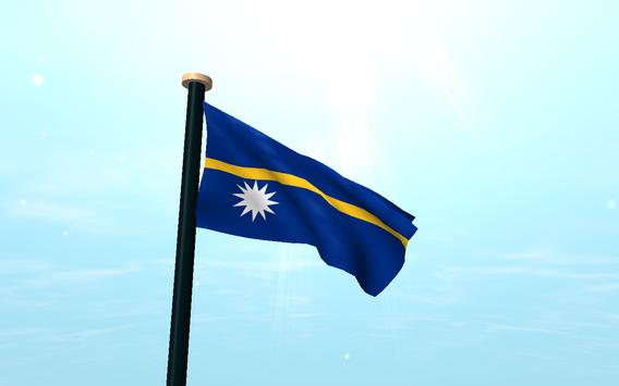 Nauru Flag 3D Free Wallpaper screenshot 6