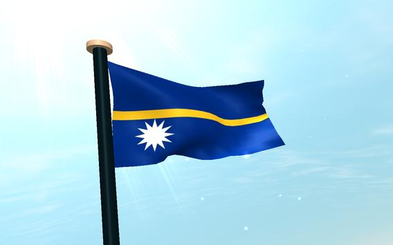 Nauru Flag 3D Free Wallpaper screenshot 8