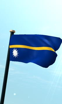 Nauru Flag 3D Free Wallpaper poster