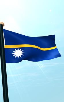 Nauru Flag 3D Free Wallpaper screenshot 13