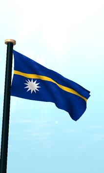 Nauru Flag 3D Free Wallpaper screenshot 1