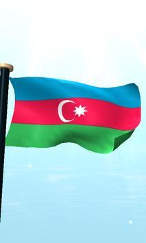 Azerbaijan Flag 3D Free screenshot 4