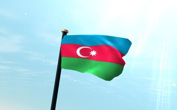 Azerbaijan Flag 3D Free screenshot 5