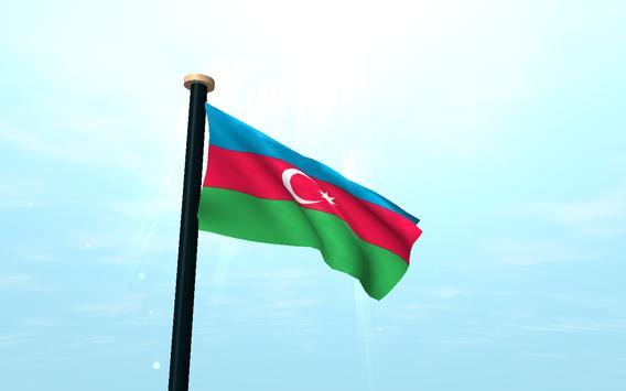 Azerbaijan Flag 3D Free screenshot 6