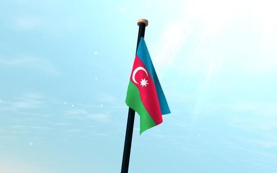 Azerbaijan Flag 3D Free screenshot 7