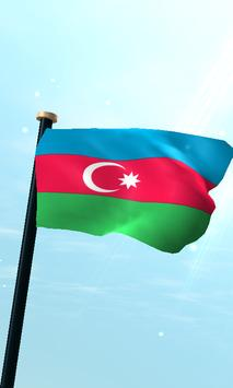 Azerbaijan Flag 3D Free poster