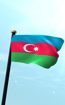 Azerbaijan Flag 3D Free screenshot 10