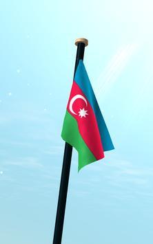 Azerbaijan Flag 3D Free screenshot 12