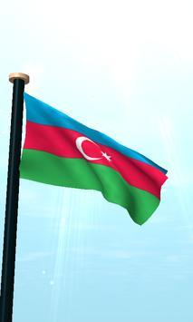 Azerbaijan Flag 3D Free screenshot 1
