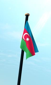 Azerbaijan Flag 3D Free screenshot 2