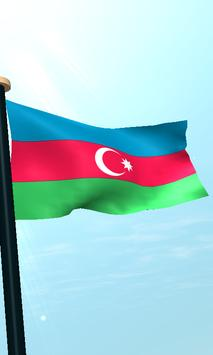 Azerbaijan Flag 3D Free screenshot 3