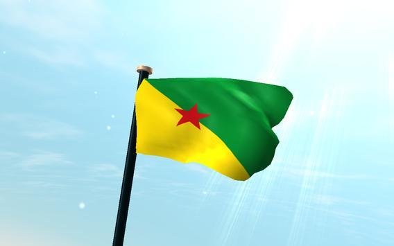 French Guiana Flag 3D Free screenshot 5