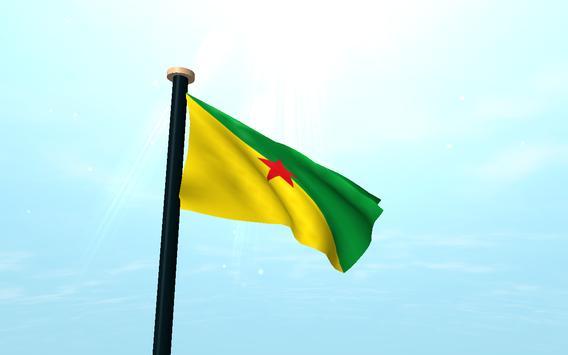 French Guiana Flag 3D Free screenshot 6