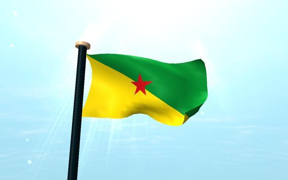 French Guiana Flag 3D Free screenshot 9