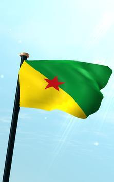 French Guiana Flag 3D Free screenshot 10