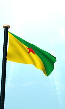 French Guiana Flag 3D Free screenshot 1