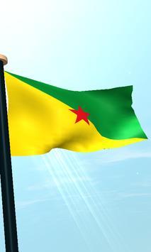 French Guiana Flag 3D Free screenshot 3