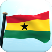 Ghana Flag 3D Free Wallpaper icon