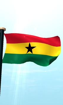 Ghana Flag 3D Free Wallpaper screenshot 4