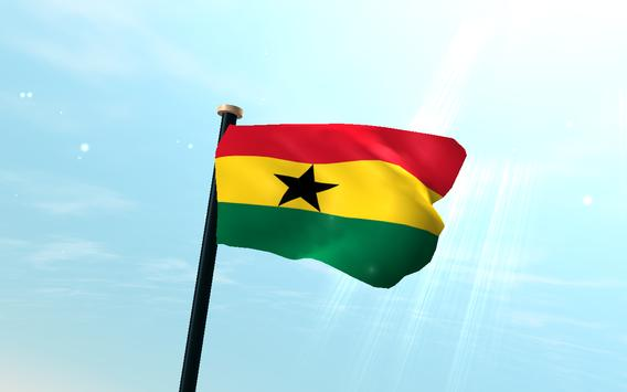 Ghana Flag 3D Free Wallpaper screenshot 5