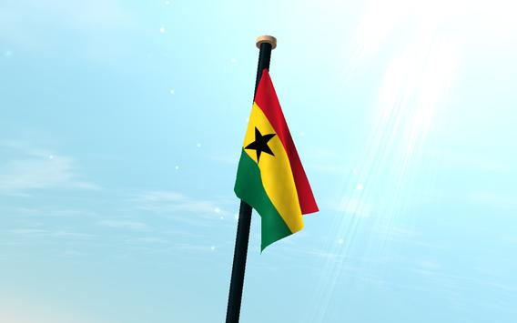 Ghana Flag 3D Free Wallpaper screenshot 7