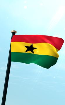 Ghana Flag 3D Free Wallpaper screenshot 10