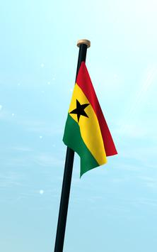 Ghana Flag 3D Free Wallpaper screenshot 12