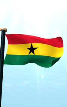 Ghana Flag 3D Free Wallpaper screenshot 14