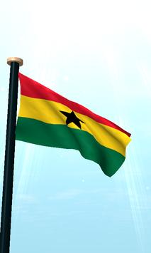 Ghana Flag 3D Free Wallpaper screenshot 1
