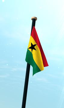 Ghana Flag 3D Free Wallpaper screenshot 2