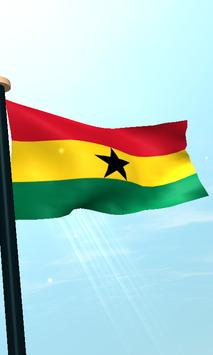 Ghana Flag 3D Free Wallpaper screenshot 3