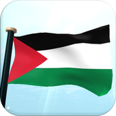 Palestine Flag 3D Free icon
