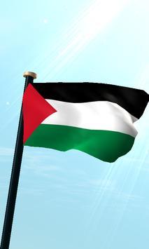 Palestine Flag 3D Free poster