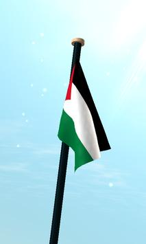 Palestine Flag 3D Free screenshot 2