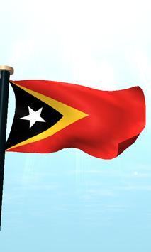 Timor-Leste Flag 3D Free screenshot 4