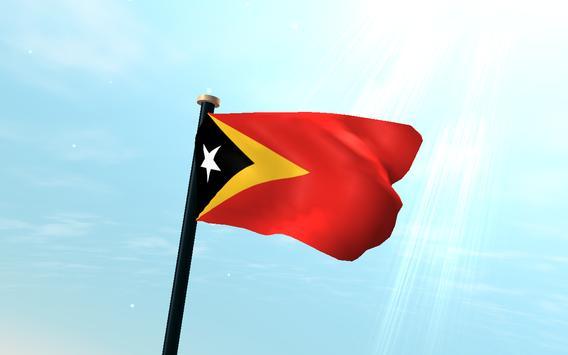 Timor-Leste Flag 3D Free screenshot 5