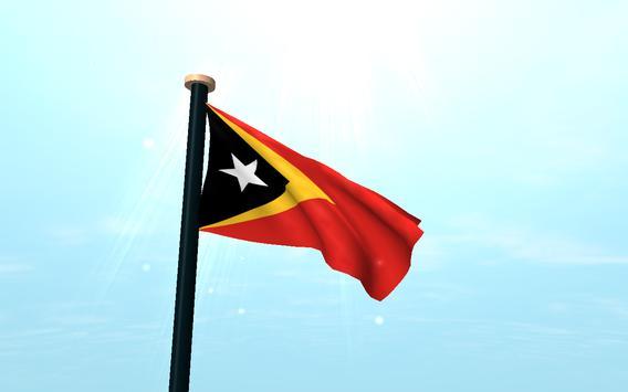 Timor-Leste Flag 3D Free screenshot 6