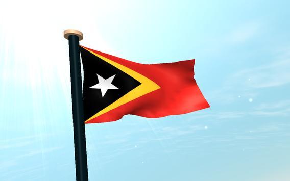 Timor-Leste Flag 3D Free screenshot 8