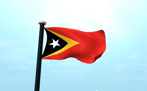 Timor-Leste Flag 3D Free screenshot 9