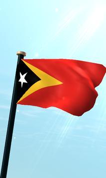 Timor-Leste Flag 3D Free poster