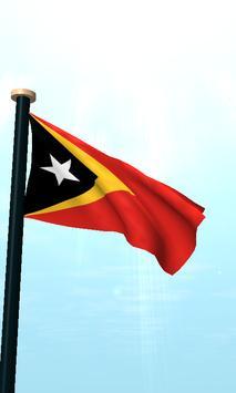 Timor-Leste Flag 3D Free screenshot 1