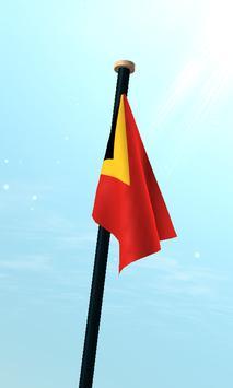 Timor-Leste Flag 3D Free screenshot 2