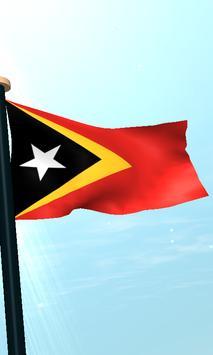 Timor-Leste Flag 3D Free screenshot 3