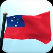 Samoa Flag 3D Free Wallpaper icon