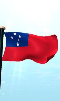 Samoa Flag 3D Free Wallpaper screenshot 4