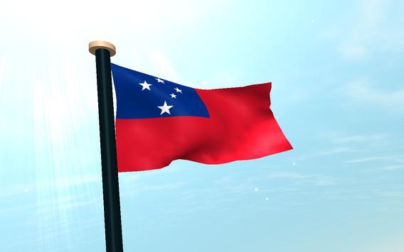 Samoa Flag 3D Free Wallpaper screenshot 8