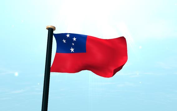 Samoa Flag 3D Free Wallpaper screenshot 9
