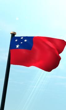 Samoa Flag 3D Free Wallpaper poster